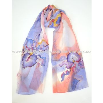 India Chiffon Scarves, cotton, fashionable, unique designs on Global