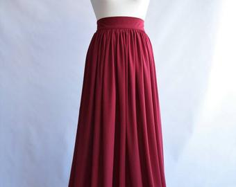 Chiffon Skirt long