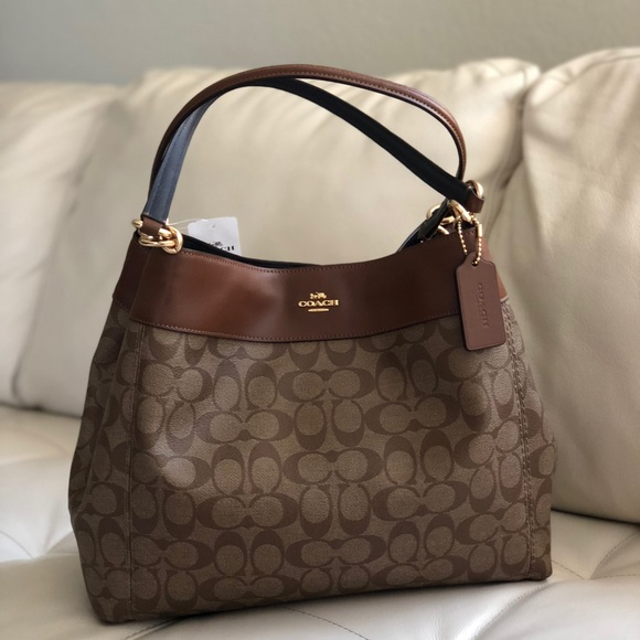 Coach Bags | Lexy Shoulder Bag Signature Canvasleather | Poshmark
