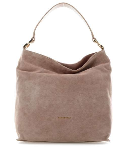 Coccinelle Arlettis Suede Hobo bag brushed cow leather taupe