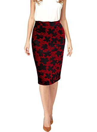Miusol Women's High Waist Vintage A-line Cocktail Party Swing Skirt