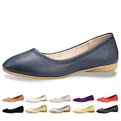 Amazon.com | CINAK Flats Shoes Women- Slip-on Ballet Comfort Walking