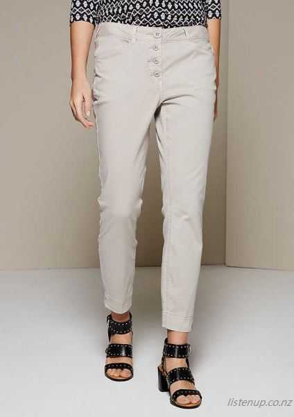 COMMA Summery 7/8 Pants in fine wash Light Sand 9SD1435