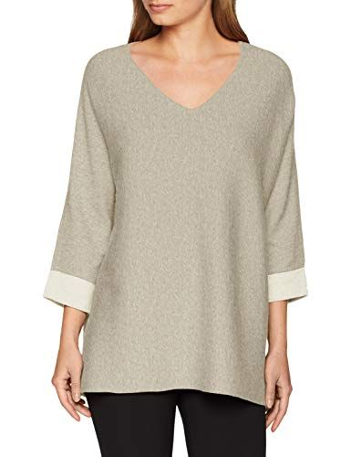 Comma CI Damen Pullover 80.899.61.0615 Grau (Light Grey Melange 90w1