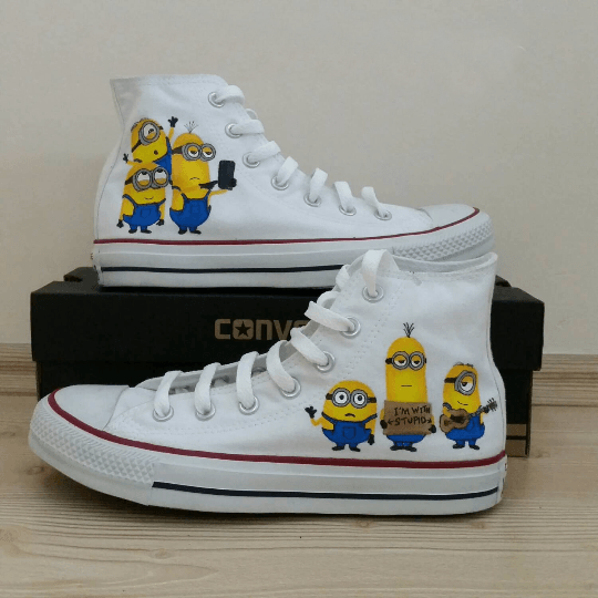 Minion Converse Shoes - Custom Converse Shoes by CustomizedConverse.com