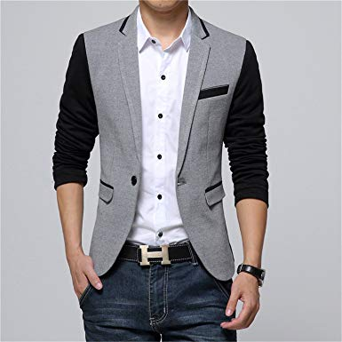 Thadensama New Fashion Casual Men Blazer Cotton Slim Korea Style