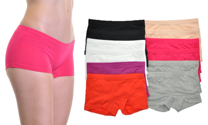 Angelina Cotton Boxers (12-Pack) | Groupon Goods