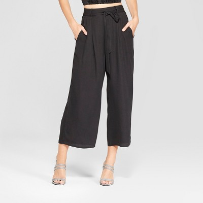 Women's Wide Leg Tie Front Cropped Pants - Xhilaration™ : Target