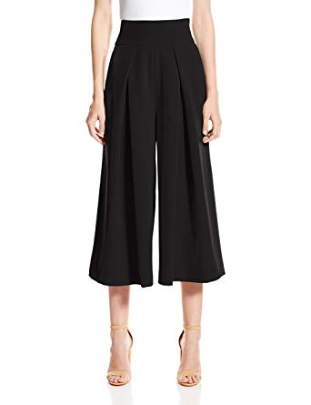 Amazon.com: Milly Women's Italian Cady Culotte Pant with Front