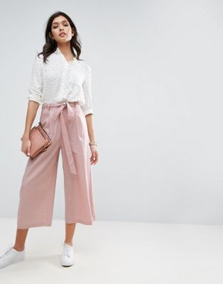 ASOS | ASOS Linen Culotte Pants | -- buy -- in 2019 | Culotte pants