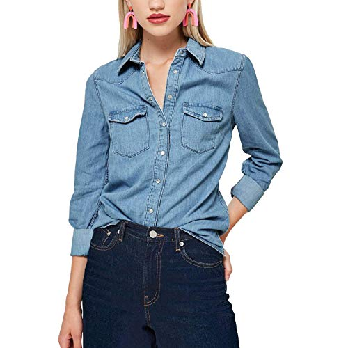 Denim Blouses: Amazon.com