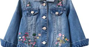 Amazon.com: EGELEXY Kids Toddler Baby Girls Embroidered Denim Jacket