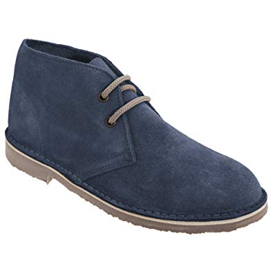 Amazon.com | Roamers Womens/Ladies Real Suede Unlined Desert Boots