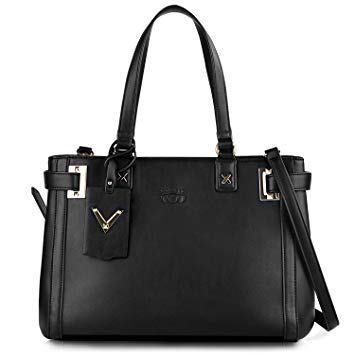 Amazon.com: COOFIT Black Satchel Handbags for Women PU Leather Top