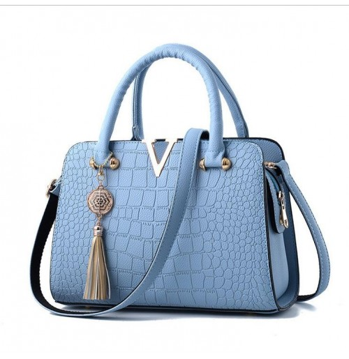 Crocodile leather Women Bag V letters Designer Handbags Luxury
