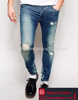 Ripped Jeans For Men,Destroyed Jeans,Washed Denim - Buy Ripped