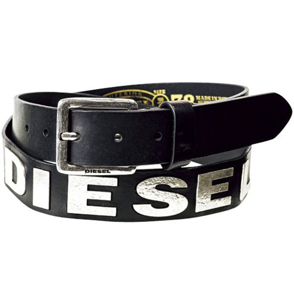 LA Konect: Diesel Diesel belt metal logo men's leather accessories