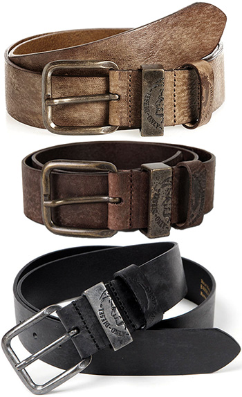 kaminorth shop: DIESEL diesel W belt leather belts brave man logo