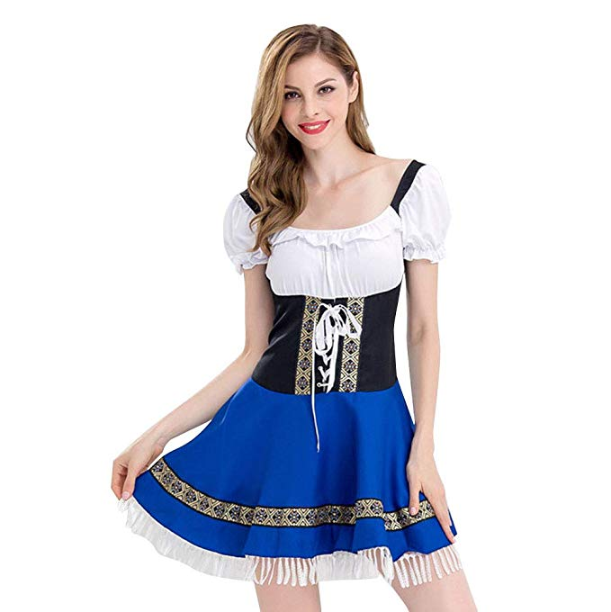 Amazon.com: MIARHB Women's Traditional Dirndl Dresses Blouse Cosplay