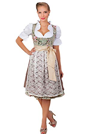 Amazon.com: Edelnice Trachtenmoden 2-Piece Dirndl Dress Authentic