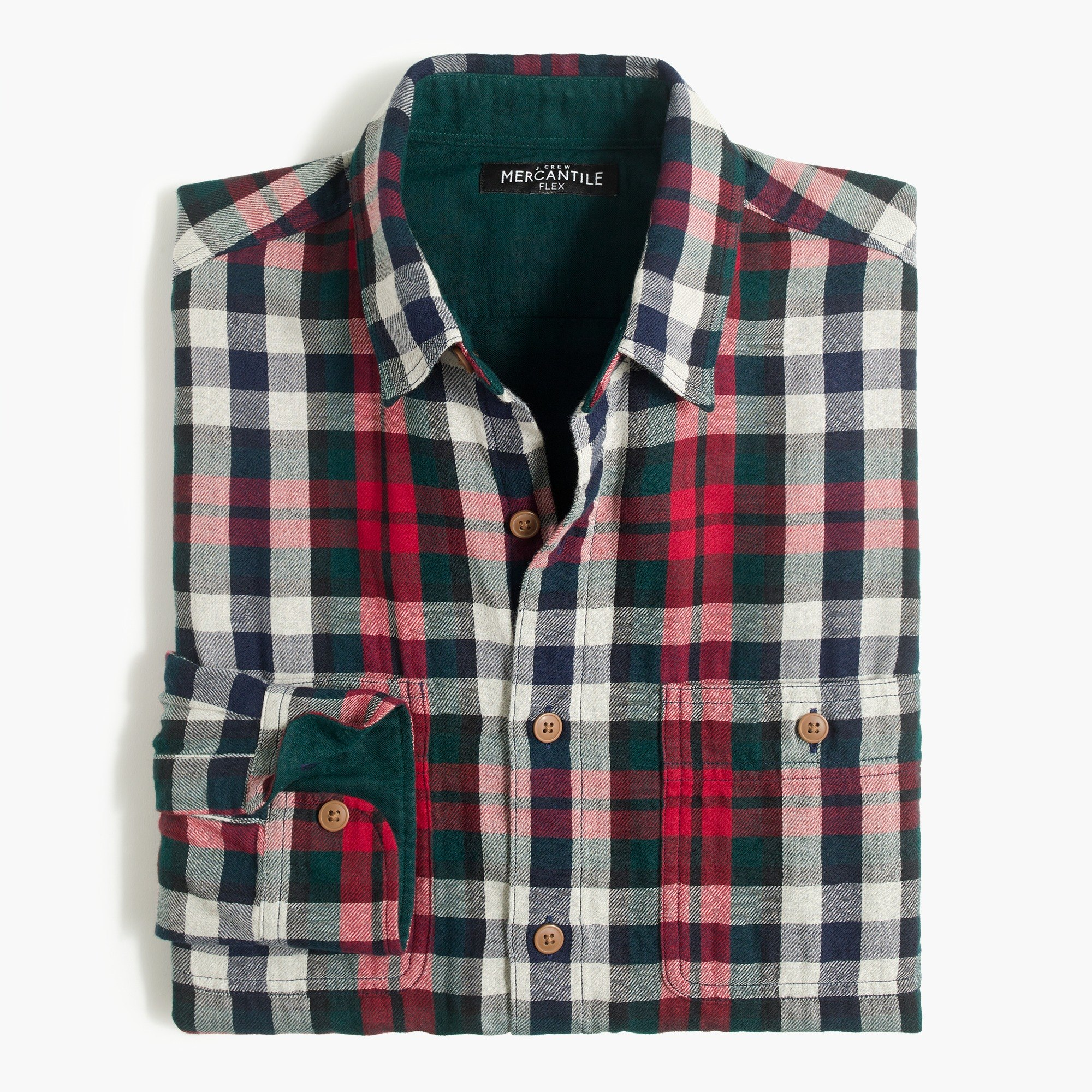 Slim double-layer shirt in plaid : FactoryMen Double Layer Shirt