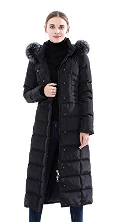 Amazon.com: Obosoyo Women's Hooded Thickened Long Down Jacket Maxi