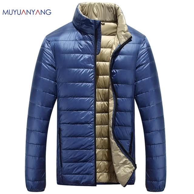 Mu Yuan Yang Casual Ultralight Mens Duck Down Jackets Autumn