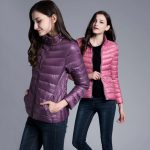 Modern down jackets for women