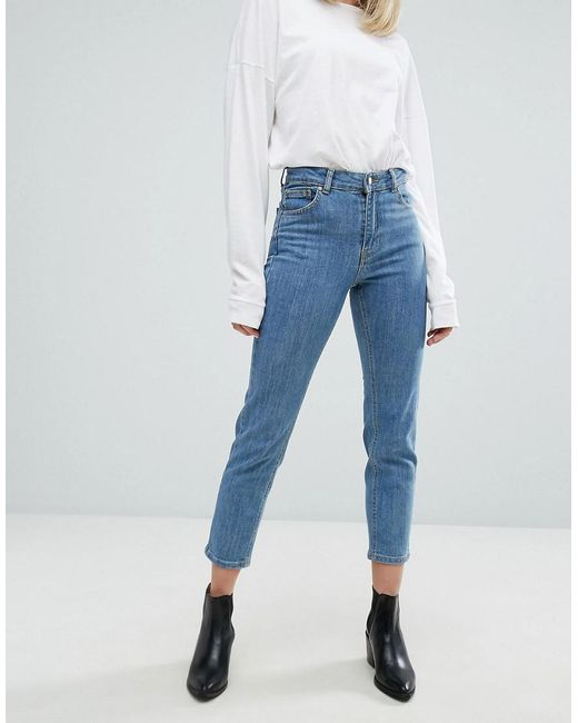 Lyst - Dr. Denim Edie High Waisted Slim Cropped Jeans in Blue