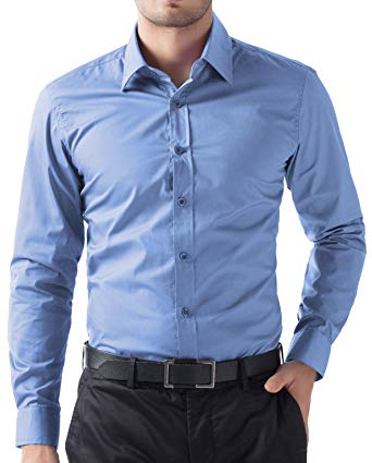 PAUL JONES Men's Business Casual Long Sleeves Dress Shirts at Amazon