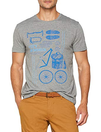 ESPRIT Men's 078ee2k020 T-Shirt (Medium Grey 035): Amazon.co.uk