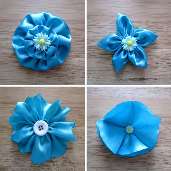 fabric flowers gallery | craftgawker