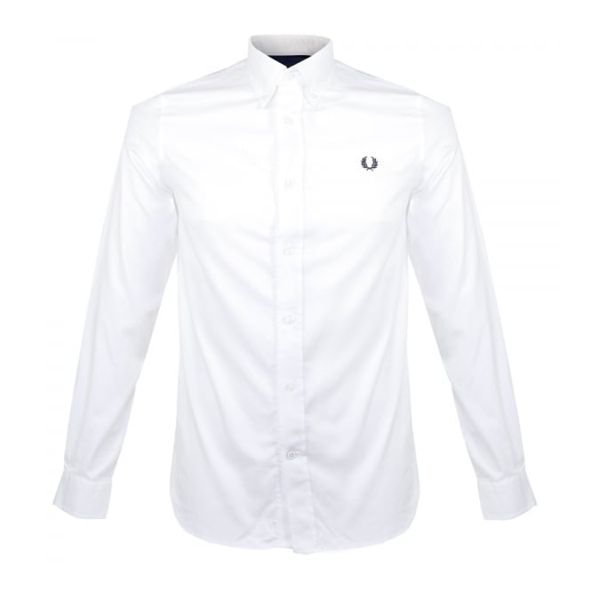 Fred Perry Store Online | Classic Twill LS White Shirt