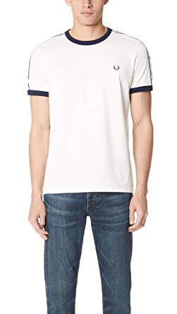 Amazon.com: Fred Perry Men's Tape Ringer Tee: Clothing