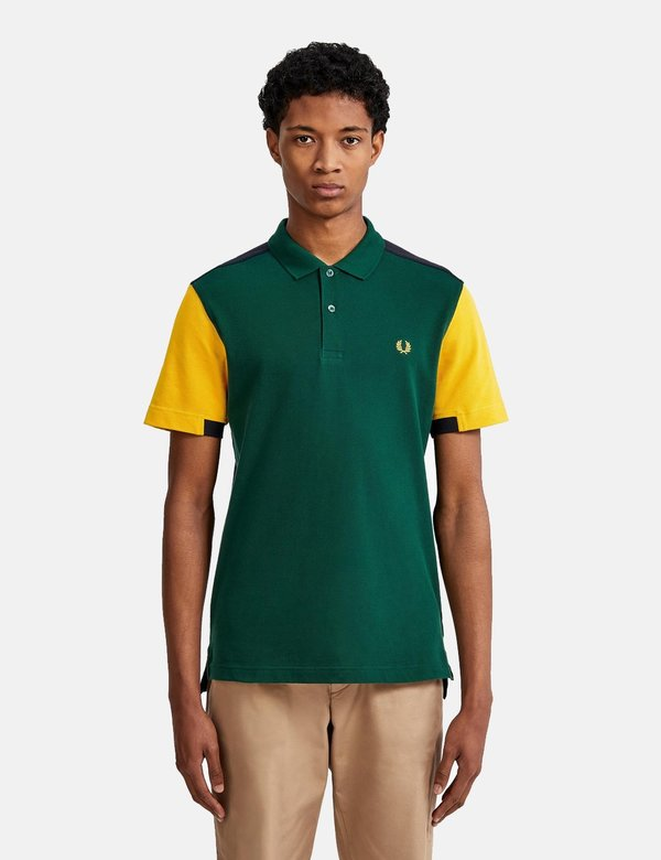 Fred Perry Bold Cuff Insert Polo Shirt - Ivy Green | Garmentory