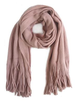 Brushed Long Fringed Scarf - ILYMIX Accessories