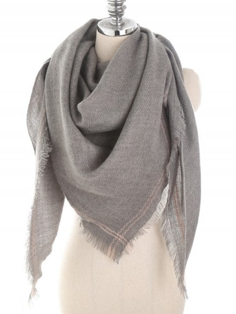 43% OFF] 2019 Vintage Solid Color Fringed Scarf In BATTLESHIP GRAY