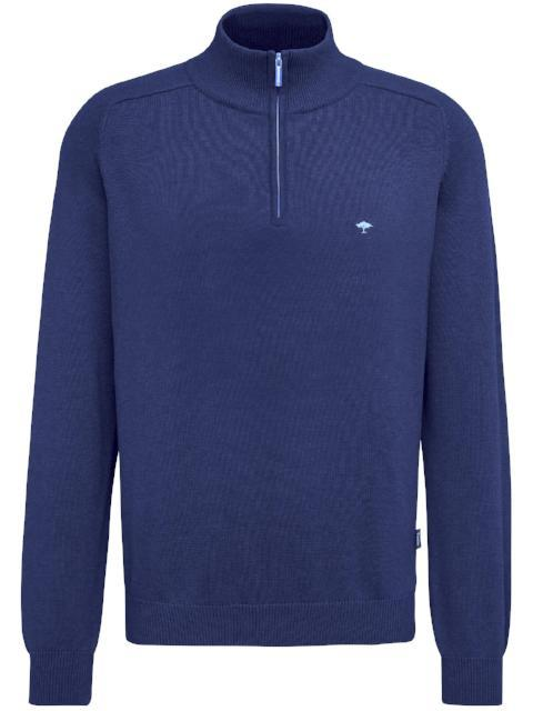 Fynch Hatton Supersoft 1/4 Zip Jumper/Night - AW17 - J&B Menswear