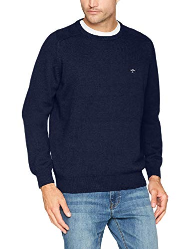 Fynch Hatton Men's O-Neck Jumper, Grün (Everglade 780), M: Clothing