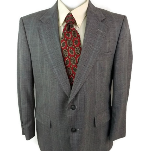 Towncraft Suits & Blazers | Suit Gray Glen Check 42 S Pants 3430