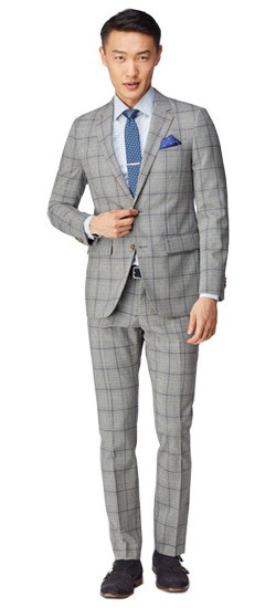 Men's Custom Suits - Abstract Glen Check Suit | INDOCHINO