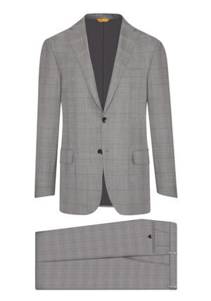 Light Grey Glen Check Suit at Hickey Freeman