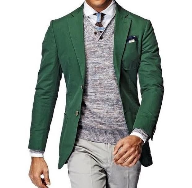 Men Green Blazer - Pop of Color | Southern Gentleman | Pinterest