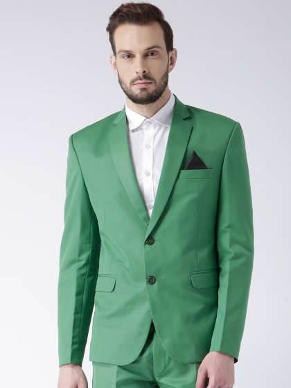Men Green Blazers - Buy Men Green Blazers online in India