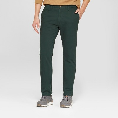 Men's Slim Fit Hennepin Chino - Goodfellow & Co™ Forest Green : Target