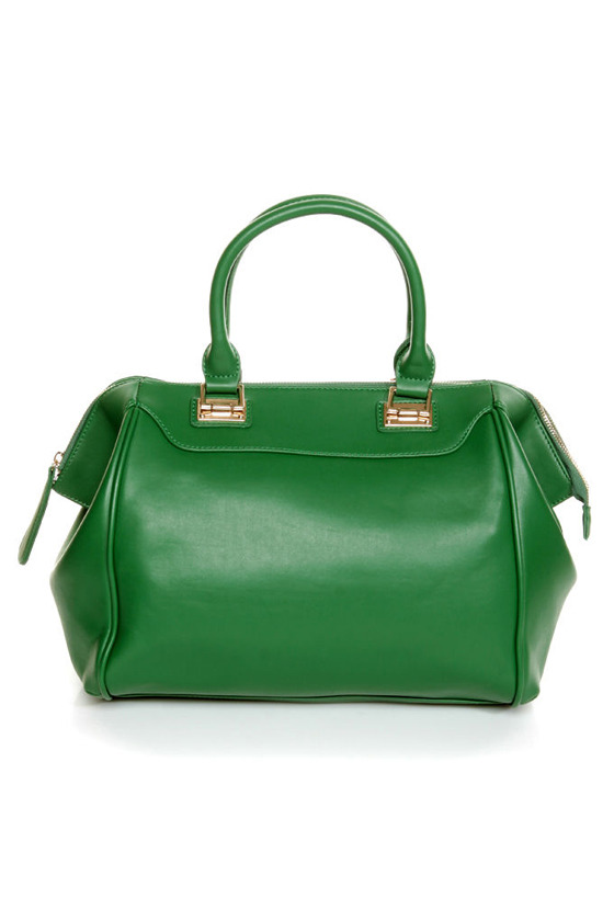 Roomy Green Handbag - Oversized Handbag - Structured Handbag - Green