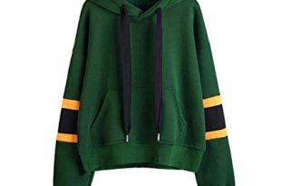 Amazon.com: Womens Green Hooded Pullover, Corriee Fashion Long