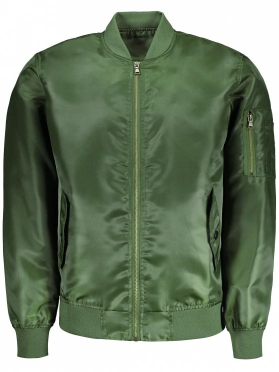 2019 Mens Bomber Jacket In ARMY GREEN XL | ZAFUL CA