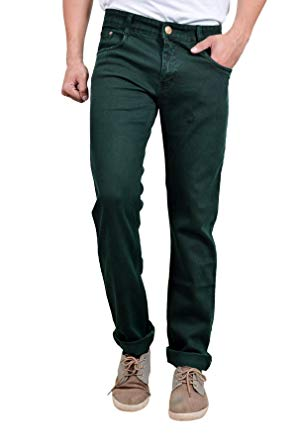 Studio Nexx Dark Green Men's Regular fit Jeans: Amazon.in: Clothing
