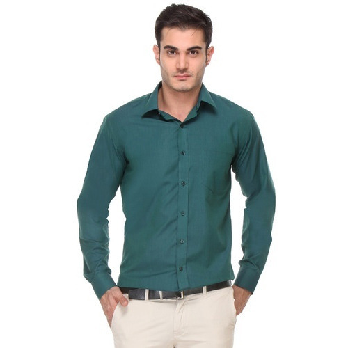 Mens Bottle Green Shirt at Rs 650 /piece(s) | Gents Shirts, Mens